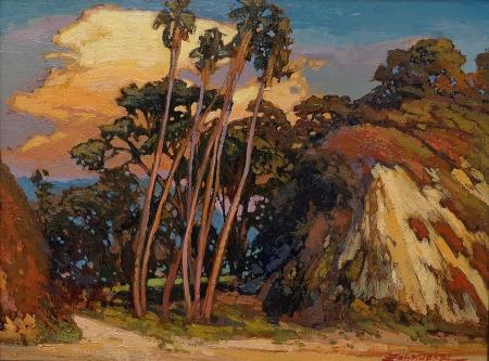 Jan Schmuckal Break in the Cliffs 13x17 oil on canvas
