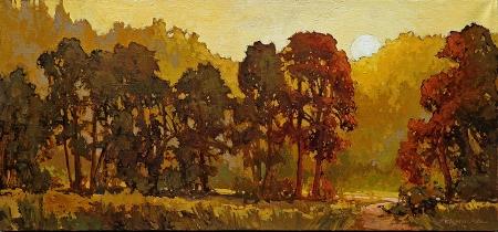 Jan Schmuckal Rising Heat 13x28 oil on canvas