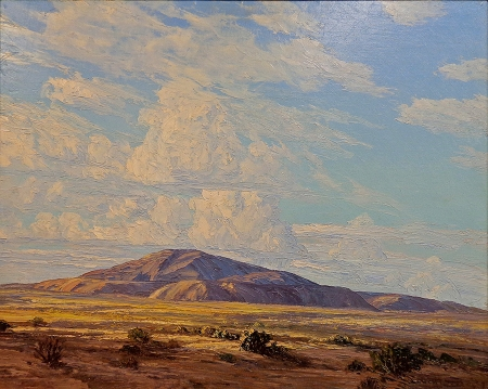 John Hilton Clouds over Thermal 24x30 Oil on Board