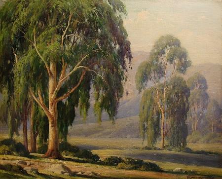 Ralph Hammeras Eucalyptus Landscape 16x20 Oil on Canvas