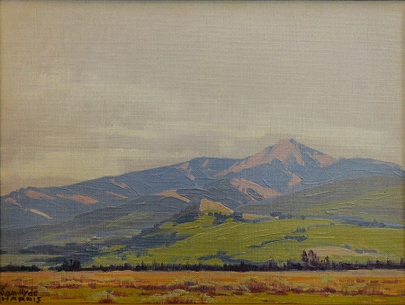 Sam Hyde Harris Rain Prediction 12x16 Oil on Canvas Board