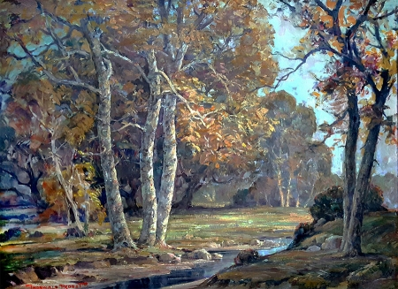 Thorwald Probst Autumn Colors 30x40 Oil on Canvas