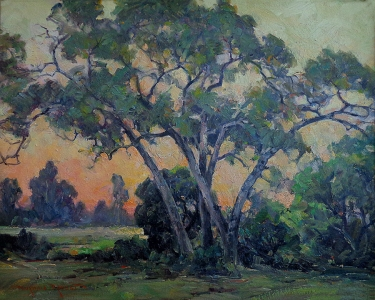 Thorwald Probst Early Sunset 24x30 Oil on Board