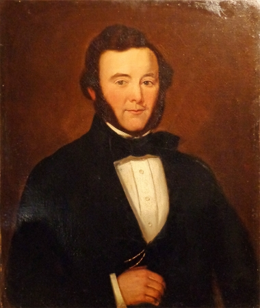 Unknown Artist American Portrait of a Man Oil on Canvas