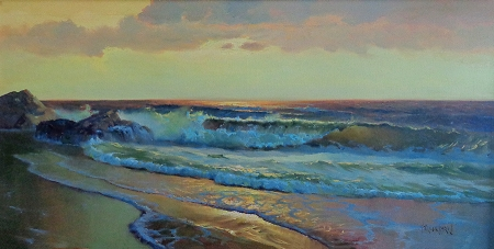 Vernon Kerr Laguna Sunset 24x28 Oil on Canvas