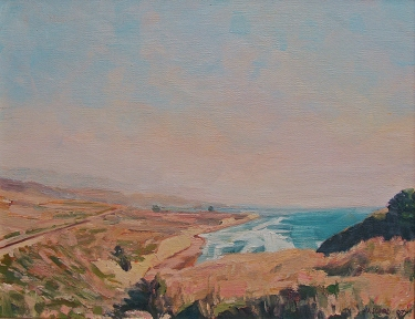 Vic Schiro Point Conception Outlook 11x14 Oil on Board