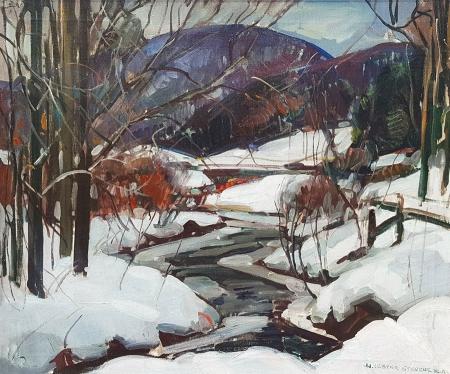 William Stevens Winter Thaw 24x30 Oil on Canvas