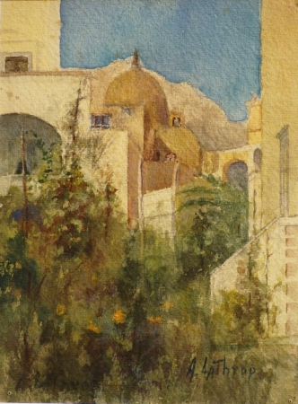 Ada Frances Lathrop Capri 9x7 Watercolor