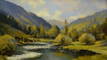 Aiden Crombie Upper Lytle Creek 16x26 oil