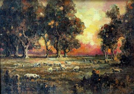 Alice Blair Thomas Sunset Glow 10x14 Oil on Canvas
