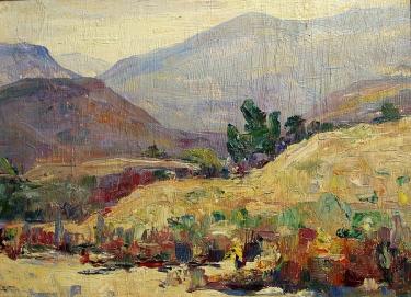 Alta West Salisbury Hillside Color 12x16 Oil on Board