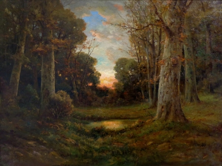 Angel Espoy Clearing in Autumn 30x40 Oil on Canvas