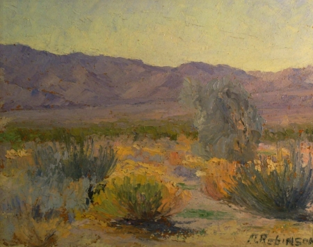 Anne Robinson Desert Color 8x10 Oil on Board