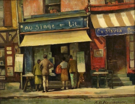 Anthony Heinsbergen The Bookstore 14x18 Oil on Board