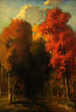 August D Turner Autumn Colors 22x16 Oil on Board
