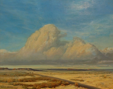 Clyde Scott Distant Thunderhead 24x30 Oil on Canvas