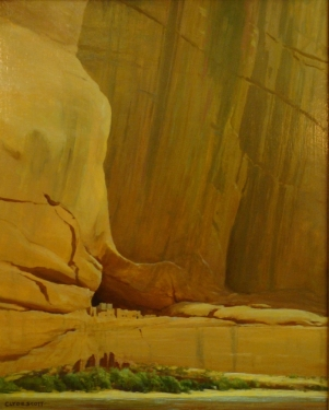 Clyde Scott White House Ruins Canyon de Chelly 30x24 Oil on Board