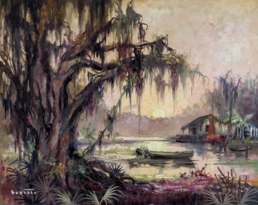 Colette Heldner Idle Swamp 24x30 Oil on Canvas