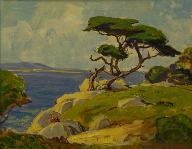 Dana Bartlett Monterey Cypress 16x20 Oil on Canvas
