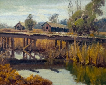 Darwin Duncan House near Temecula 16x20 Oil on Canvas Board