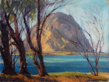 Darwin Duncan Morro Rock 12x16 Oil on Board