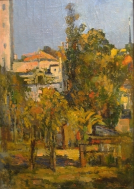 De Basse Colorful Landscape 28x20 Oil on Board