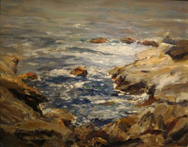 Dedrick Brandes Stuber Study for Laguna Rocks 11x14 Oil on Board