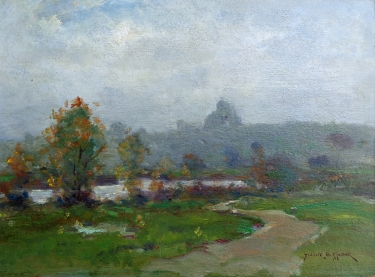 Dedrick S Stuber Mists at Beverly 11x15 Oil on Board