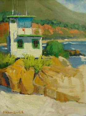 Dick Heimbold El Matador Life Guard Tower 12x9 Oil