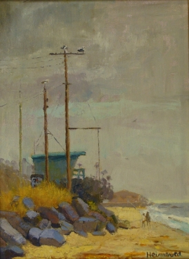 Dick Heimbold Foggy Day 16x12 Oil on Board