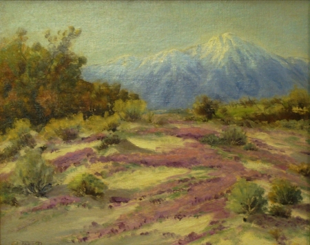 Edward L. Forbes Garden of Allah 16x20 Oil on Board