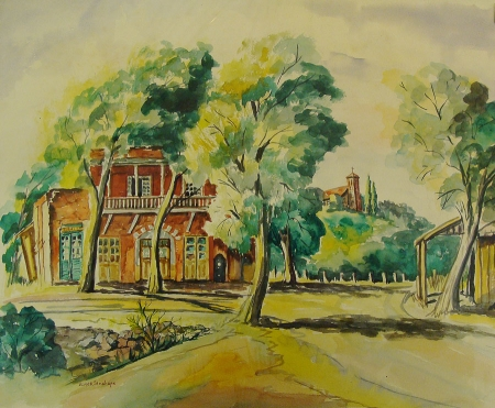 Elmer Stanhope The Brick House 14x19 Watercolor