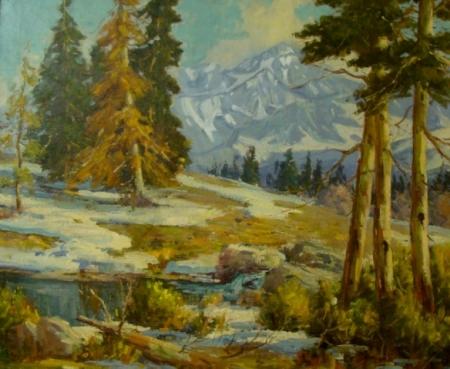 Eugene Dunlap Forest Scene 30x36 Oil