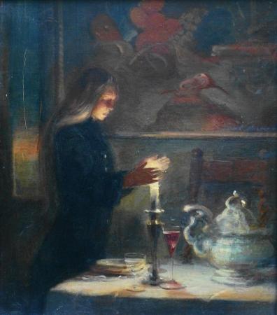 Frank Mason Solitude 16x14 Oil on Canvas