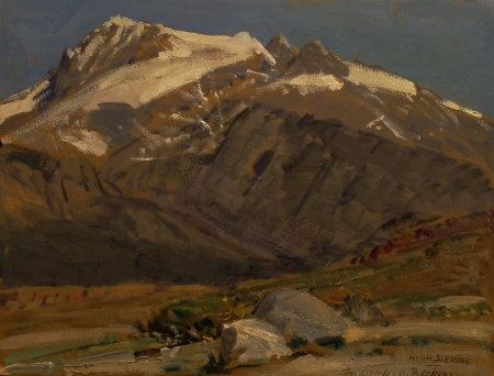 Frederick W Becker High Sierras 12x15 Oil on Paper