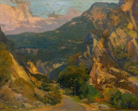 Frederick W Becker Malibu Canyon 16x20 Oil on Board