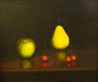 David Tindle Fruit Still Life 24x30 Oil on Canvas