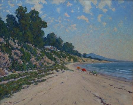 Gary Ray Summerland Beach 24x30 Oil on Canvas