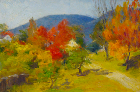 George L Nelson Autumn Colors 8x12 Oil on Board