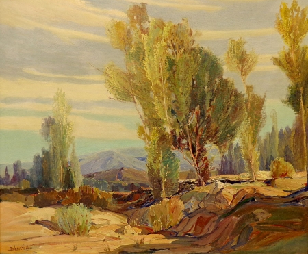 George S Bickerstaff San Fernando Valley 25x30 Oil on Canvas
