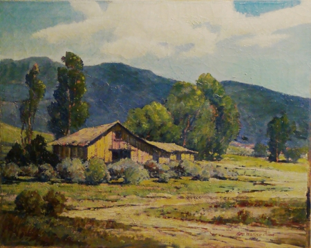 George Wallace Olson Cabin in the Foothills 24x30 Oil on Canvas