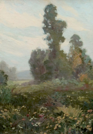 Glen Sheffer Flowers in Landscape 20x14 Oil
