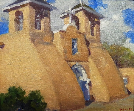 Gregory Hull Rancho de Taos 10x12 Oil on Board