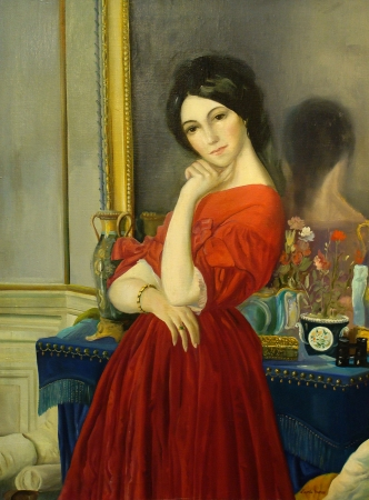 Duncan Gleason The Ingenue for 20th Century Fox 4030 Oil on Canvas