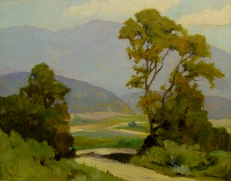 Jessie Everts La Canada Foothills 16x20 Oil