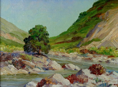 Joane Cromwell San Jacinto River 6x8 Oil on Canvas