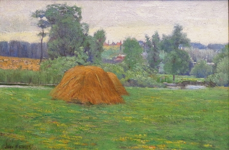 John F. Stacey French Haystack 12x18 Oil on Canvas