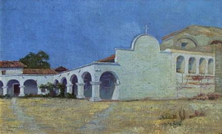 San Juan Capistrano by Josephine Bayley 10x15 Oil Painting