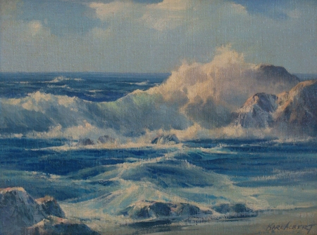 Karl Albert Laguna Surf 12x16 Oil on Canvas