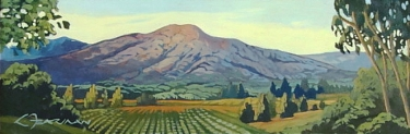 Sierra Madre Valley by Lynne Fearman - Oil Painting 4x12